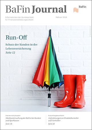 Cover BaFinJournal 02/2018 (refer to: BaFinJournal Februar 2018)
