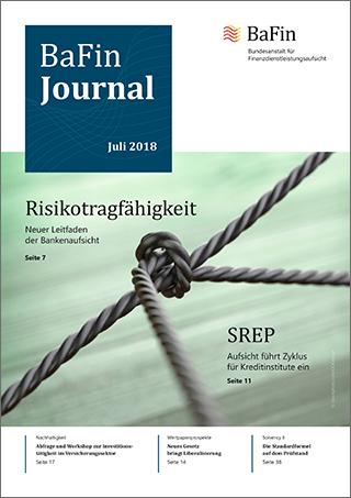 Cover BaFinJournal 07/2018